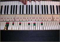 Intonationscheck an einem Piano.